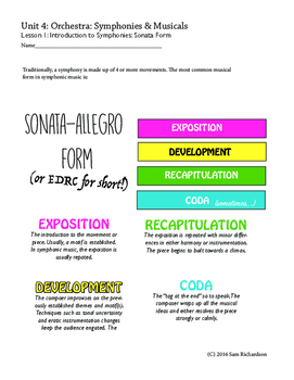 Sonata-Allegro Form: Notes Handout