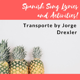 "Song Activities for ""Transporte"" by Jorge Drexler"