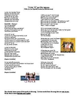 Song Activity-Eres Tú