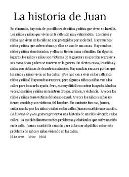 Song Activity-La Historia de Juan