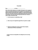 Song Activity for Literary Analysis
