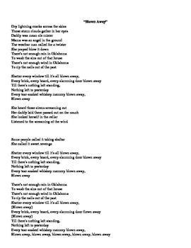 Song Analysis- Blown Away