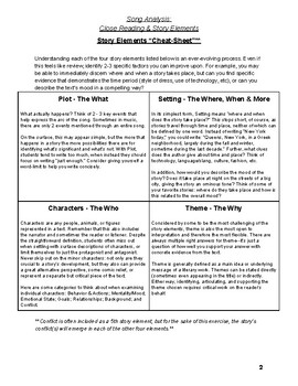 Song Analysis: Close Reading & Story Elements
