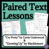Song Analysis Paired Texts & Close Reading Lesson Plans