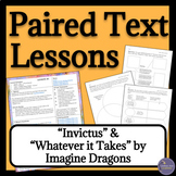 Song Analysis & Poem Analysis Paired Texts Lesson Plans, Handouts