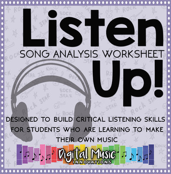 Song Analysis Worksheet By Digital Music Innovations Tpt