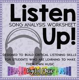 Song Analysis Worksheet