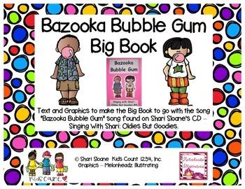 Song Big Book - Bazooka Bubble Gum