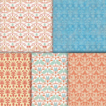 Song Bird Animal Patterns - 10 Handmade Printable Bird Digital Papers