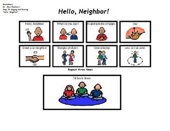 "Song Board - Dr. Jean's ""Hello, Neighbor"""