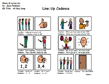 "Song Board - Dr. Jean's ""Line-Up Cadence"""