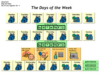 """Songboard - Greg and Steve's """"Days of the Week"""""""