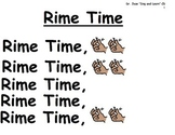 "Song Board - ""Rime Time""/Dr. Jean's Sing and Learn CD/Rhyming"