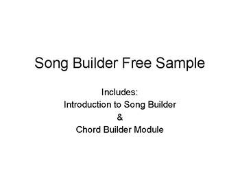 Song Builder Free Sample: Chord Builder