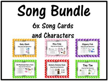 Song Bundle 6x Cards and Characters