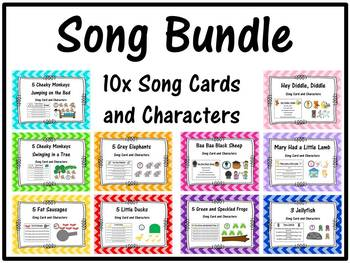 Song Bundle 10x Cards and Characters