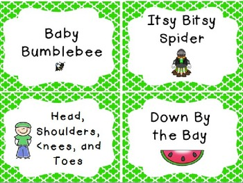 Song Cards {Free}