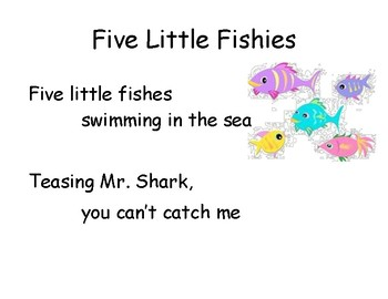 Song Chart: 5 Little Fishies