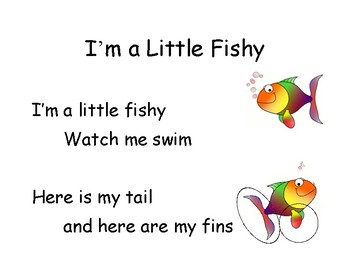 Song Chart I M A Little Fishy By Ms Ashleys Creations Tpt