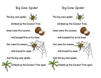 Song Chart & Minis: Big Cane Spider
