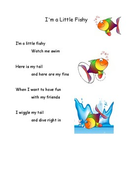Song Chart Minis I M A Little Fishy By Ms Ashleys Creations Tpt