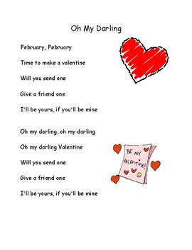 Song Chart & Minis: Oh My Darling, Valentine