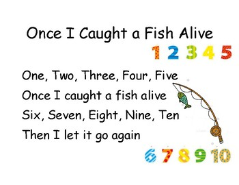 Song Chart: Once I Caught a Fish Alive