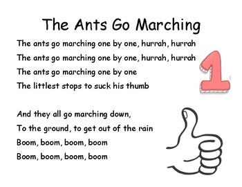 Song Chart: The Ants Go Marching