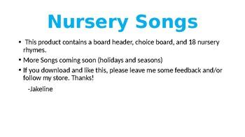 Song Choice Board