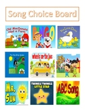 Song Choice Board (Manding/ Picture Exchange)