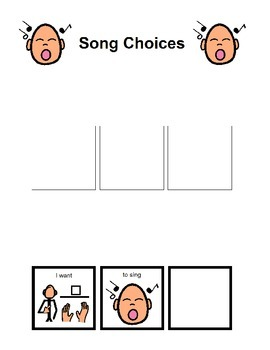 Song Choice Board - Special Needs
