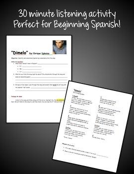 Spanish Song - Dímelo - Spanish Tú Commands