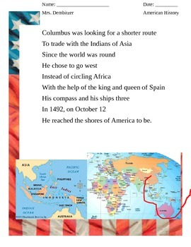 Song: Columbus discovers America