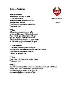 Canción - Corre by Agapornis