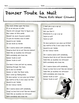 Song: Danser Toute La Nuit