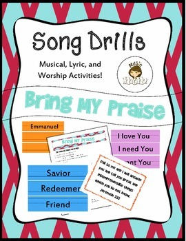 Song drills bring my praise by music mom teachers pay teachers song drills bring my praise stopboris Images