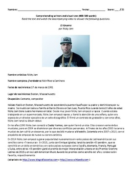 Song Exam: El Amante -  Nicky Jam