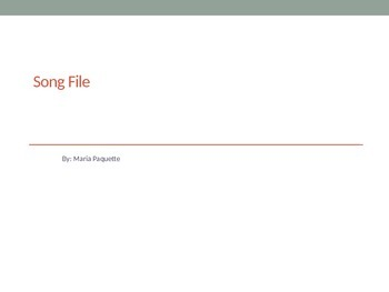 Song File-All Subjects