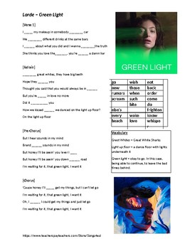 Song - Green Light - Lorde