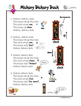 Song Hickory Dickory Dock - Nursery Rhyme for Kids