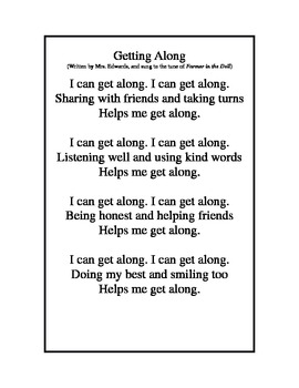 """Song """"I Can Get Along"""""""