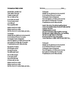 Canción:  Te Busqué - IPA-like activity with preterite and