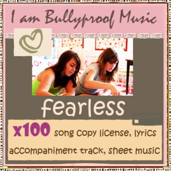 Song Kit - Fearless -100 copies, with sheet music, accompaniment track