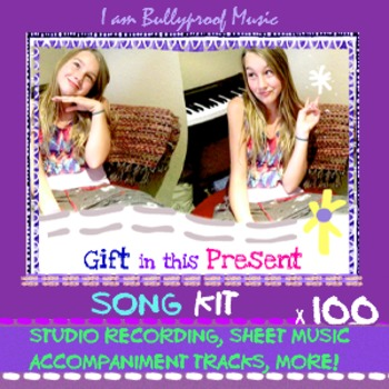 Song Kit: Gift recording, sheet music, accompaniment tracks, license home