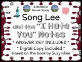 """Song Lee and the """"I Hate You"""" Note (Suzy Kline) Novel Study / Comprehension"""