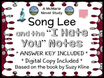 """Song Lee and the """"I Hate You"""" Note (Suzy Kline) Novel Stud"""