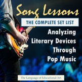 Song Lessons Bundle: Analyzing Literary Devices Through Pop Music