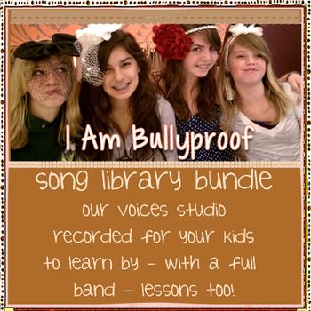 Pop Songs:  bullying prevention, singing lessons, choirs,