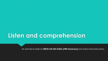 Song Listen and Compreehnsion
