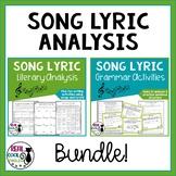 Song Lyric Analysis and Grammar Bundle